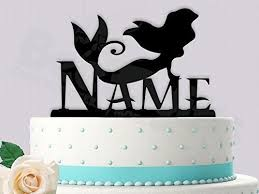 name cake topper mermaid birthday with name cake topper handmade