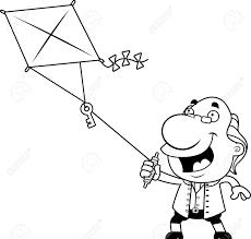 kite clipart benjamin franklin pencil and in color kite clipart