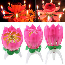 amazing happy birthday candle aliexpress buy 1pc magic musical lotus flower candles