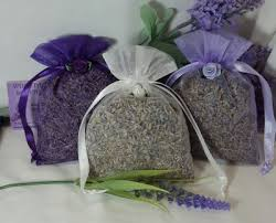 large organza bags dried lavender seeds in organza bags