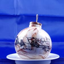 alaskan clay ornament hand painted by leo hads vintage ornament