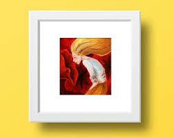 california poppy art poppy watercolor burnt orange gift