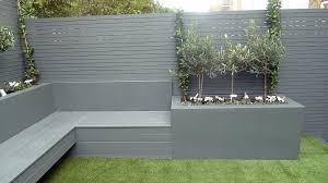 grey colour scheme agapanthus olives artificial grass porcelain