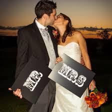 Mr And Mrs Wedding Signs Mr And Mrs Wedding Sign Props U2013 Nutmeg Studio