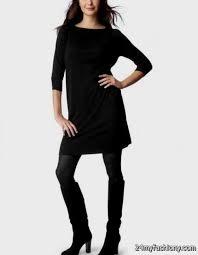 black sweater dress with leggings 2016 2017 b2b fashion