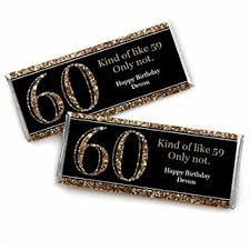 60th birthday party favors custom 60th birthday gold personalized