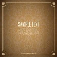 ornamental golden card vector free