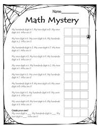 place value mystery number math mystery numbers to 1000 place value activity by