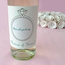 will you be my bridesmaid wine labels will you be my of honor wine label