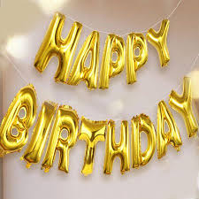 gold letter balloons happy birthday balloon 16 inches outgeek mylar aluminum foil