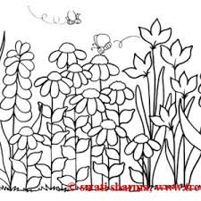 lovable simple garden coloring pages magiel simple
