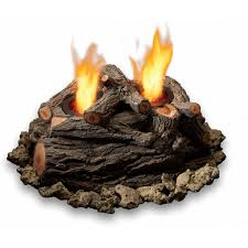 real flame 10 inch 2 can outdoor gel fuel fire pit log set oak
