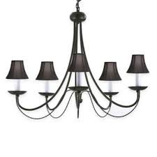 Chandelier With Black Shades Buy Wrought Iron Chandeliers From Bed Bath U0026 Beyond