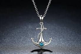 blue heart necklace jewelry images Anchor blue heart necklace teevogue jpg