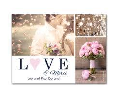 modele remerciement mariage carte de remerciement de mariage magnétique à personnaliser