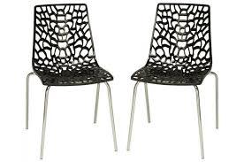 chaise pas cher lot de 2 chaises anthracites traviata chaises design pas cher