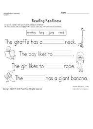 reading readiness worksheet 6