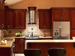 Stain Kitchen Cabinets Darker Kitchen Cherry Kitchen Cabinets With 39 High Quality Cherry