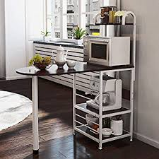 Amazon Com Langria Living Storage by Amazon Com Langria 3 Tier Kitchen Microwave Oven Rack Shelving