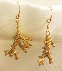 dipped in gold gold dipped coral earring by ki ele jade fashion aloha