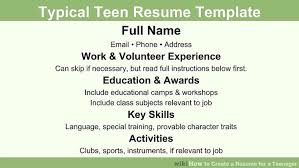 teen resume template how to create a resume for a 13 steps with pictures