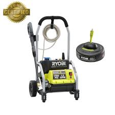 ryobi 1 700 psi 1 2 gpm electric pressure washer with 11 in