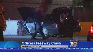 2 lapd officers hospitalized after violent crash in north