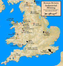Map Of Britain Mining In Roman Britain Wikipedia