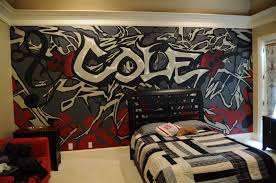 Hockey Teen Bedroom Ideas A Mural That I Did For A Teenage Boy U0027s Room My Artwork