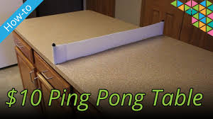 how big is a ping pong table how to make a ping pong table for 10 youtube