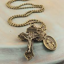 necklace crucifix cross images Cross necklace pardon crucifix st francis medal antique bronze jpeg