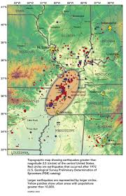 United States Fault Lines Map by Less Prepared Central U S Also Prone To Earthquakes Pbs Newshour