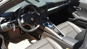 porsche agate grey interior 2012 porsche 911 991 carrera s cabriolet agate grey youtube