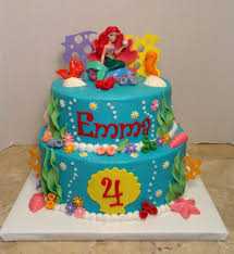 the mermaid cake mermaid 4th birthday cake cakecentral inside birthday cake
