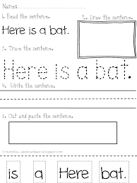 ell time reading and writing simple sentences use this template