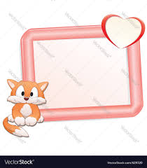 cartoon cat with frame royalty free vector image