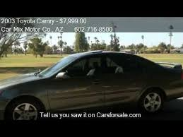 2003 toyota camry xle for sale 2003 toyota camry xle v6 for sale in az 85015