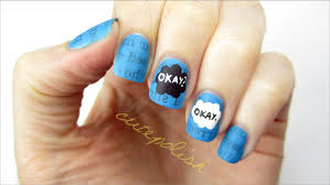 the fault in our stars nail art youtube
