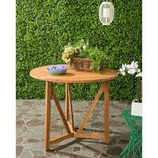 Round Wooden Patio Table by Safavieh Cloverdale Teak Round Outdoor Patio Dining Table Pat6733a
