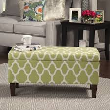 Homepop Storage Ottoman Homepop Large Geometric Green Decorative Storage Ottoman Free