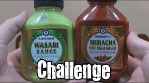 sriracha bottle back wasabi u0026 sriracha sauce challenge youtube