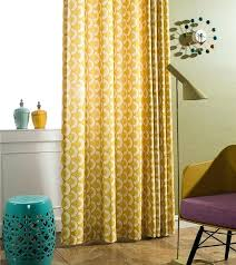 Mustard Curtain Yellow Patterned Curtains U2013 Teawing Co