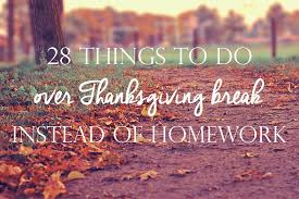 28 things to do thanksgiving instead of homework ali