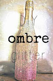 hunted and made diy ombre glitter champagne bottle how to guide