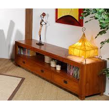meubles en teck massif meuble tv 3 tiroirs gm teck meubles macabane meubles et objets