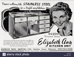 stainless steel kitchen cabinet doors uk 1950s original vintage advertisement advertising
