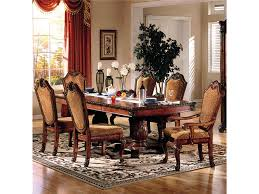 10 seat dining room set acme furniture chateau de ville 7 piece formal dining set with