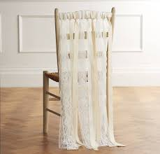 chair ribbons lace wedding chair ribbons by just add a dress