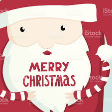 santa cartoon character christmas holidays postcard stock vector