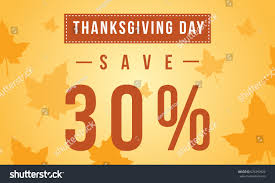 thanksgiving day sale background style save stock vector 676399822